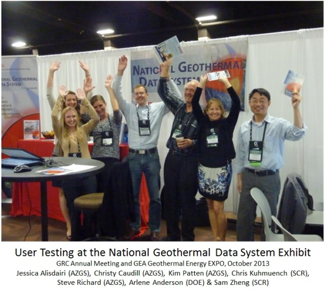 National Geothermal Data System exhibit at 2013 Expo; photo via DOE staff
