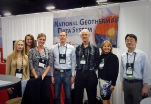 User Testing at the National Geothermal Data System Exhibit Geothermal Resources Council EXPO, October 2013 Jessica Alisdairi (AZGS), Christy Caudill (AZGS), Kim Patten (AZGS), Chris Kuhmuench (SCR), Steve Richard (AZGS), Arlene Anderson (DOE) & Sam Zheng (SCR)