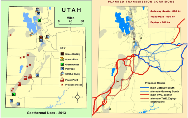 Utah Geothermal Resources and Planned Transmission