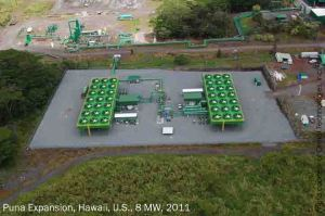Ormat expanded its Puna, Hawaii geothermal facility in 2011 with 8 MW dedicated to flexible capacity needs. Photo: Ormat Technologies