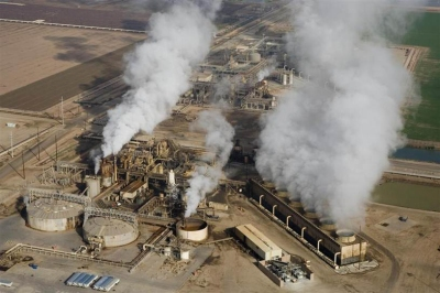 Unit 5 geothermal power plant in Imperial Valley, California. Photo courtesy of CalEnergy