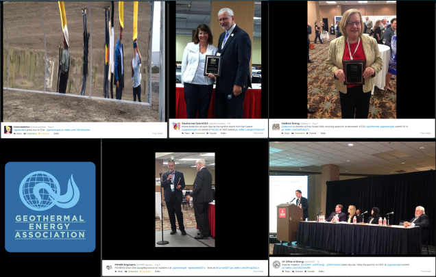 Photos from the National Geothermal Summit via Twitter users @shawnaseldon, @geothermaldata, @altarock, @PWREngineers, and @NevGOE