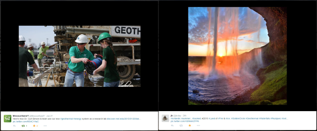 Geothermal photos via Twitter users @MissouriSandT and @jbcday