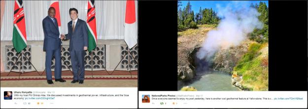 Geothermal photos via Twitter users