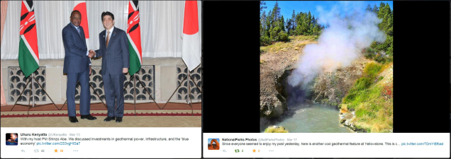 Geothermal photos via Twitter users
