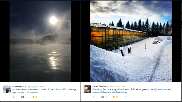 Geothermal photos via Twitter users @suzi_rees and @LauraTopley
