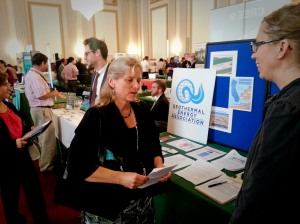 GEA staff answer questions about geothermal energy at the Renewable Energy and Energy Efficiency EXPO and Policy Forum.